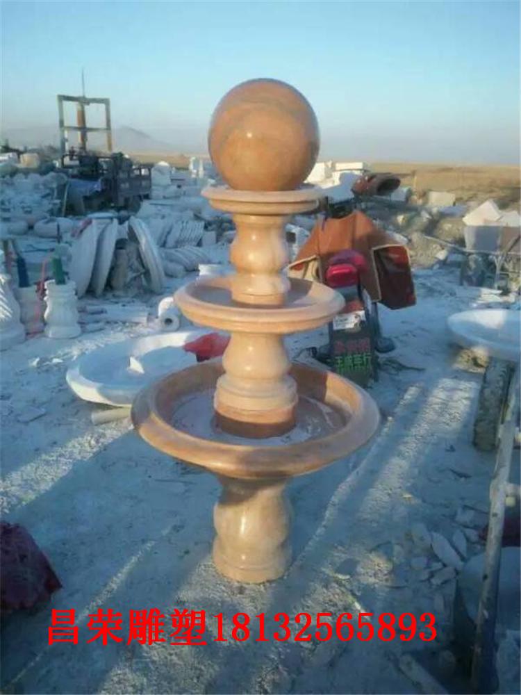 石雕喷泉 风水球