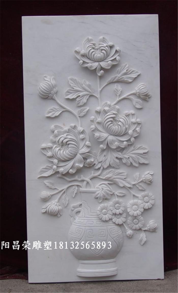 汉白玉浮雕——梅兰竹菊