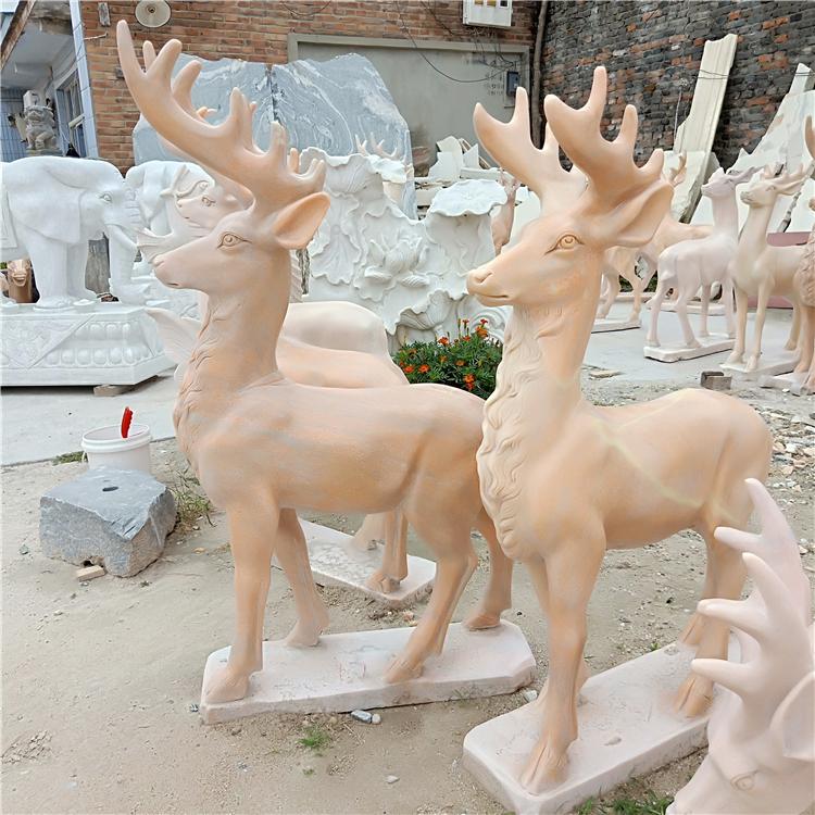 石雕动物-梅花鹿